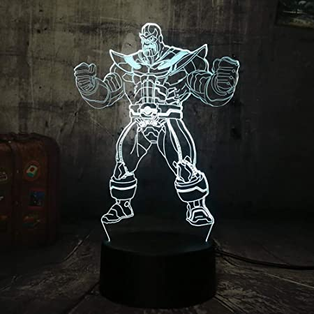 Tianyifengg LED Night Light-3D Vision-Seven Colors-Remote Control ...