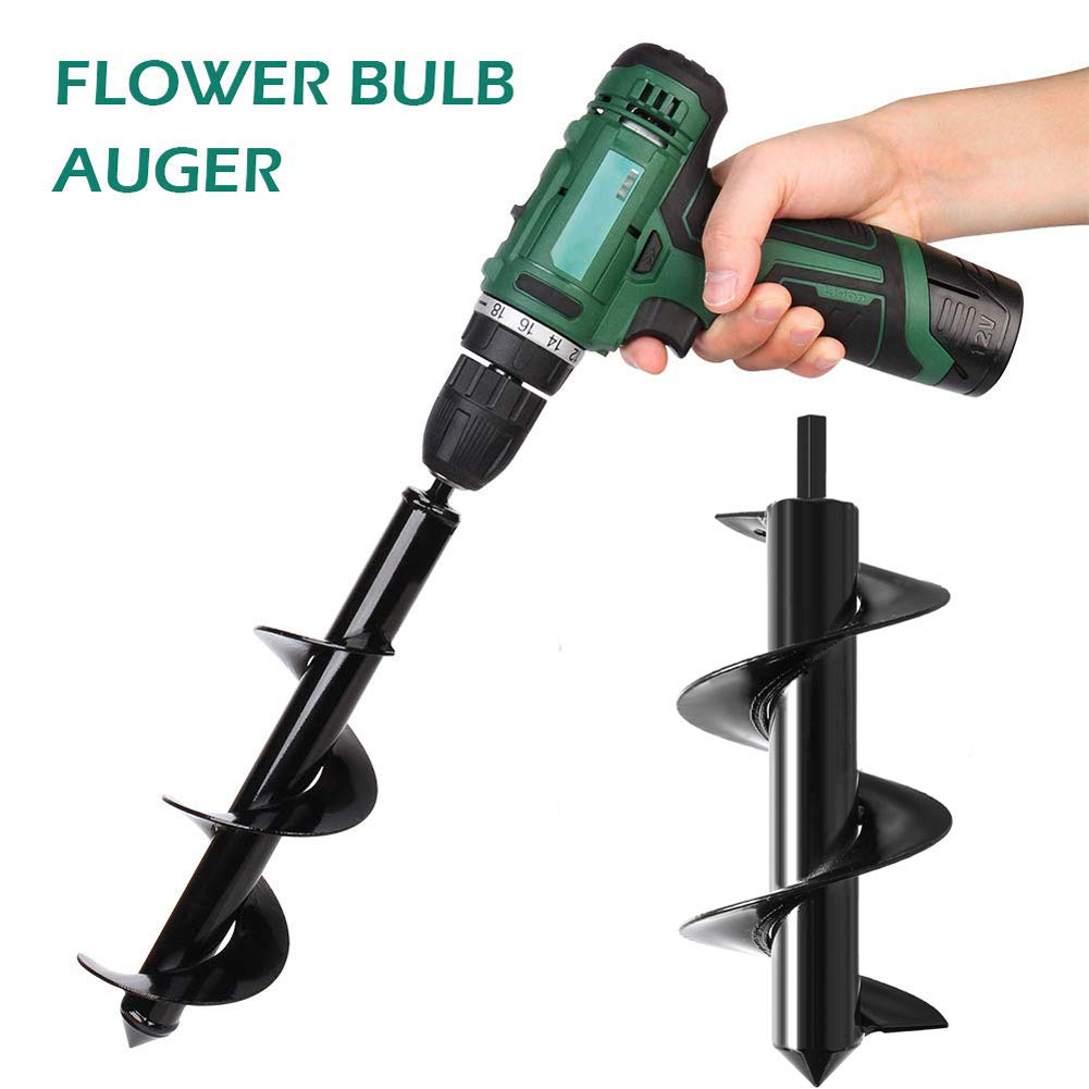 Feathernie Spiral Drill Bit-Auger Drill Bit 3.5 x 10 Non-Slip Flower Bulb Auger Rust-Proof Rapid Planter Hole Digger Bit for Hex Drive Drill Planting Bedding Bulbs Seedlings