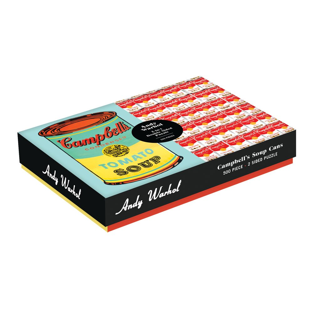 Hobbies and Games GAMES /& ACTIVITIES Puzzles Games//Puzzles NON-CLASSIFIABLE Puzzles /& quizzes Stationery items jigsawpuzzle; puzzle; Galison Andy Warhol Soup Can 2-Sided 500 Piece Puzzle Puzzles ANF