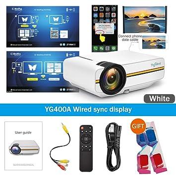 WHLDCD Proyector Mini proyector Pantalla de sincronización con ...