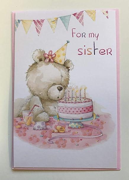 Para mi hermana, Tarjeta de felicitaciones de cumpleaños ...