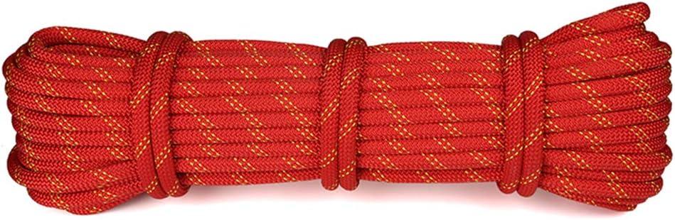登山補助ロープ、8mm家族消防緊急物干しロープ、傘ロープ屋外キャンプバンドルクロス安全ロープ-赤-80m 赤 80m