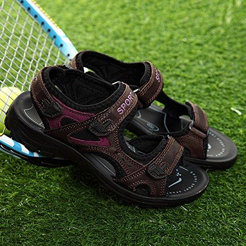 Sandalen Outdoor Damen Sport Sommer Freizeit BAINASIQI Sandalen Fitnessschuhe Braun qYxH5dd