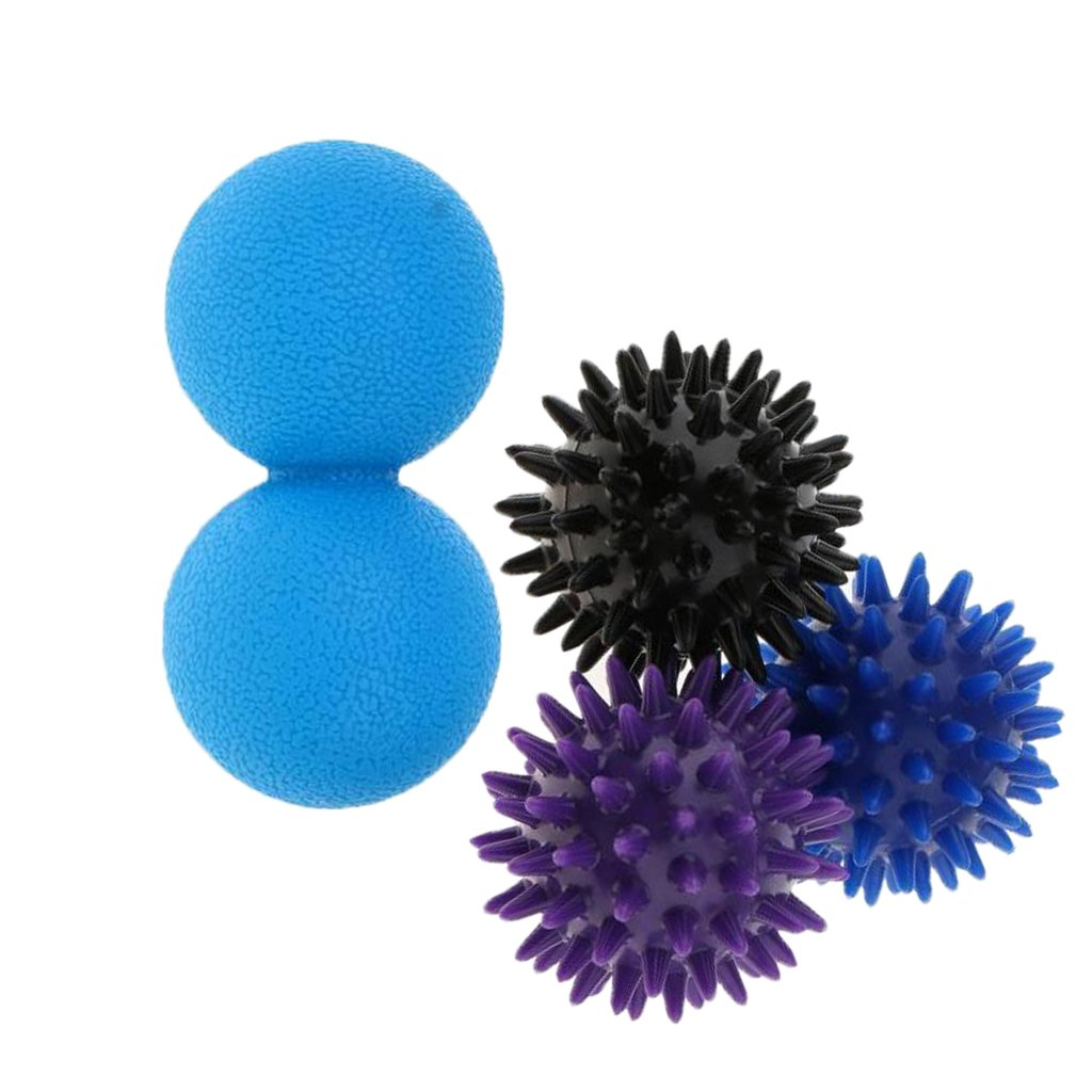 Baoblaze Set Of 4 Pieces Massage Acupuncture Double Lacrosse Mobility Myofascial Ball