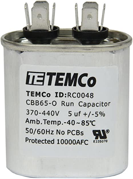 ClimaTek Oval Capacitor 15 uf MFD 370//440 Volt VAC fits Comfortmaker # 1172505