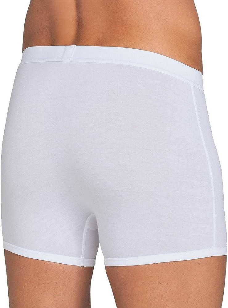 Sloggi Classic Natural Cotton Boxer Shorts Single Pack Black XS Mens