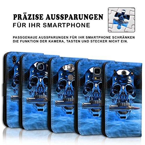 Wallet Book Style Flip Handy Tasche Case Schutz Hülle Schale Motiv Etui für Apple iPhone 6 Plus / 6S Plus - Design Flip MVD295