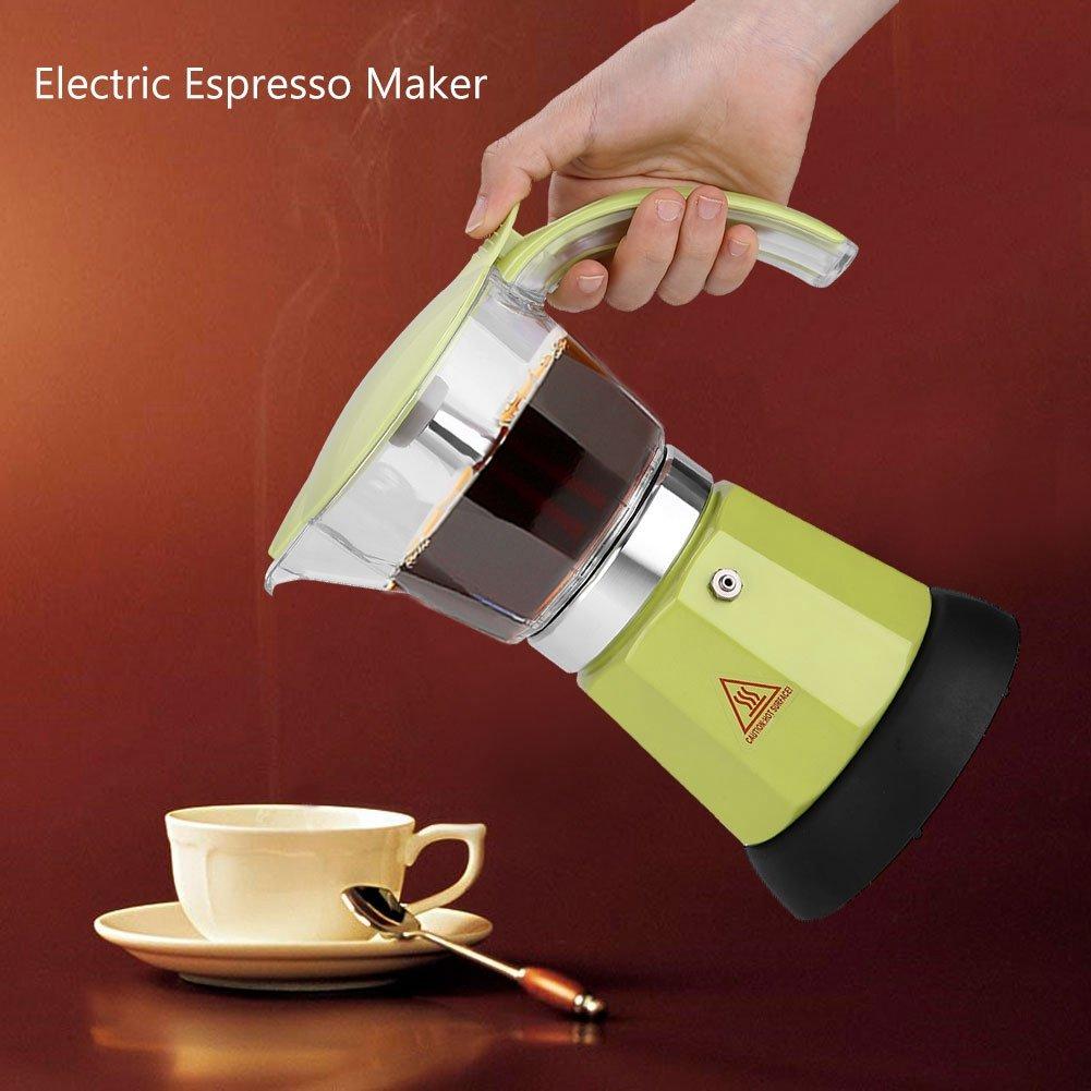 de Aleaci/ón de Aluminio para Hacer Caf/é En El Hogar Rojo La Oficina 300Ml Cafetera Asixx Cafetera Moka Cafetera Moka El/éctrica