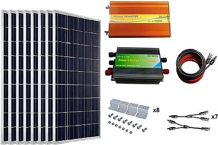 Ecoworthy 800 W Solar Panel Komplett Kits 8 Stuck 100 W Poly Solarpanel 45 A Laderegler 3000 W 12 220 V Off Grid Wechselrichter 16 Ft Kabel Y Ast Stecker Z Montagehalterung Amazon De Garten