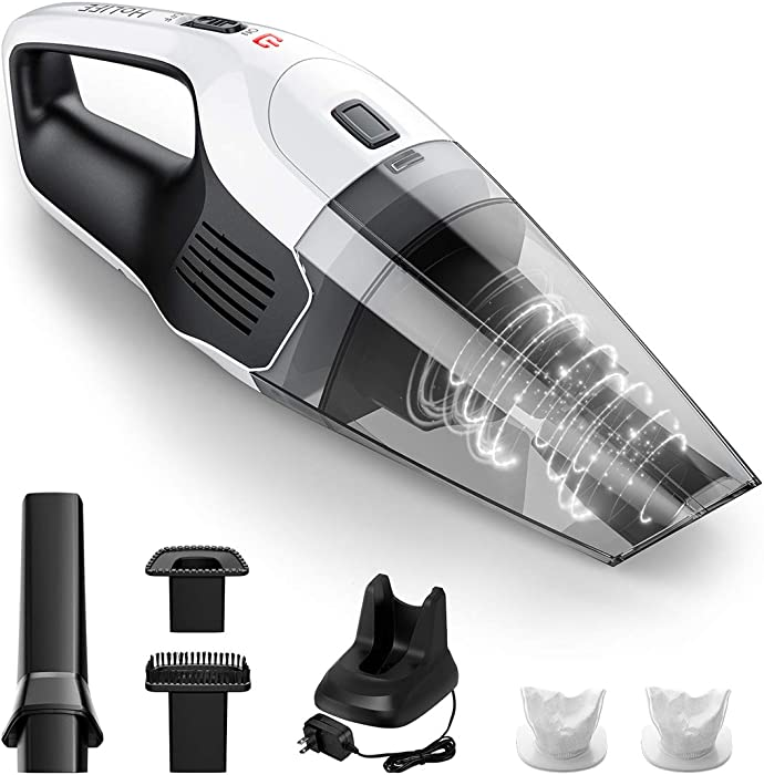 Holife Upgraded Handheld Vacuum Cordless Cleaner Rechargeable, 14.8V Portable Powerful Cyclonic Suction Hand Vacuum with Quick Charge, Lightweight Wet Dry Lithium Vac for Home Pet Hair Car Cleaning