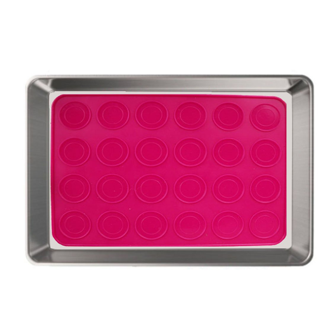 Neeshow Stainless Steel Toaster Oven Tray Pan and Silicone Baking Mat, Size 12''x10''x1'', Non Toxic & Healthy, Heavy Duty & Easy Clean, Dishwasher Safe