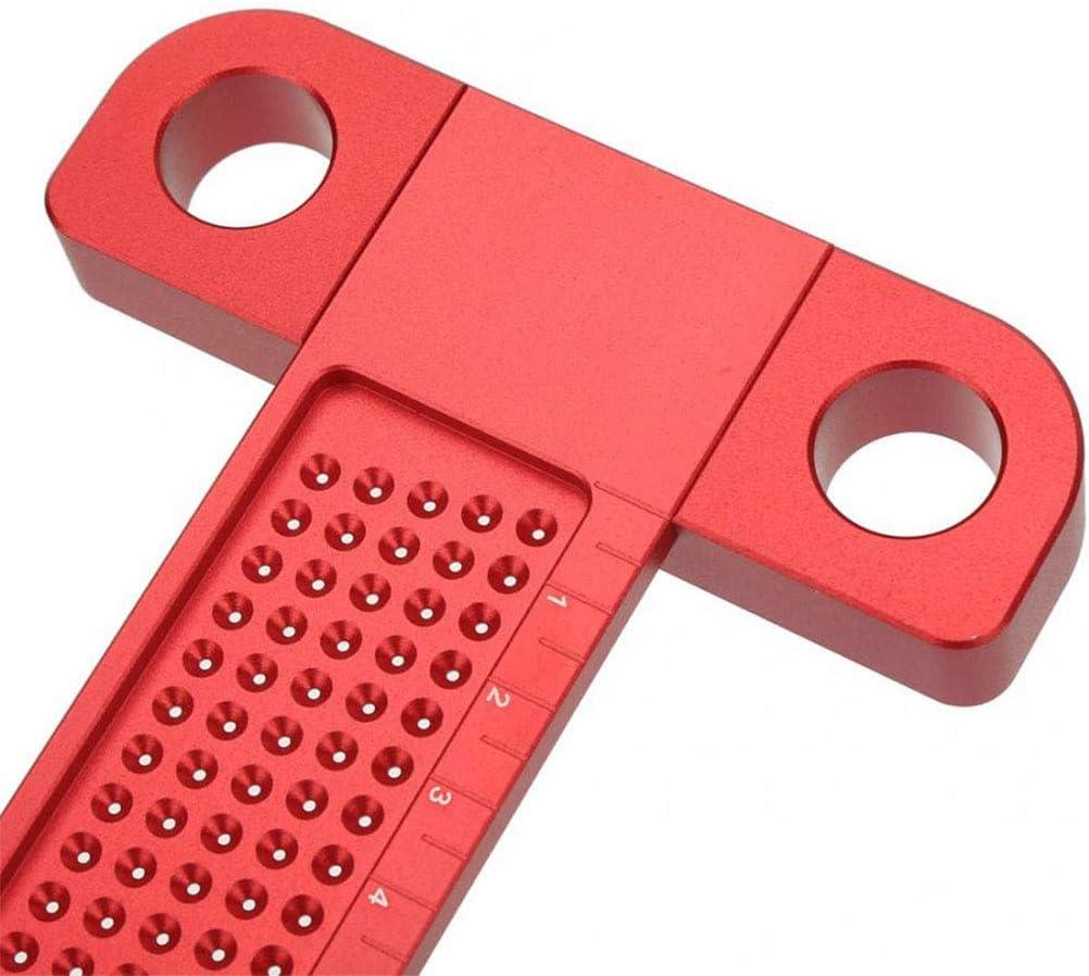 Scribing Gauge Strumento di Lavorazione Del Legno Scriber T-Type Lega di Alluminio 260 mm Foro Posizionamento Metrico Righello di Misurazione