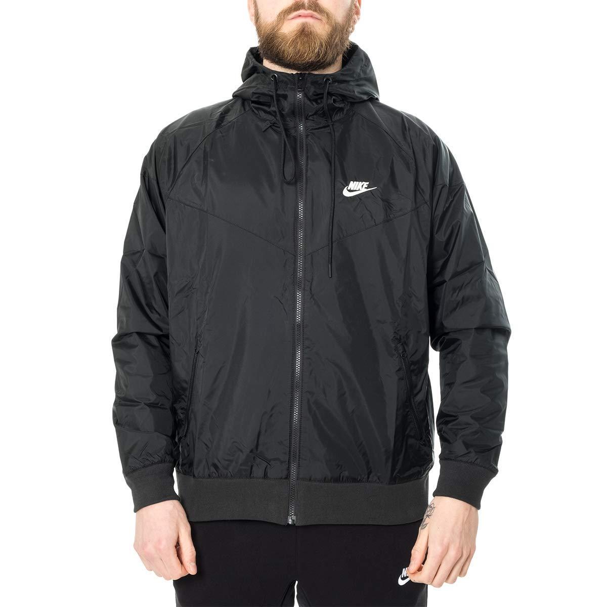 Nike Mens Sportswear 2019 Hooded Windrunner Jacket (Black/Black/Small) by Nike