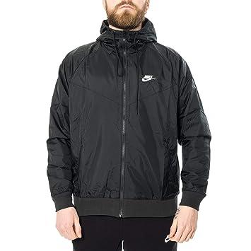 b4b3968c3 Nike Mens Sportswear 2019 Hooded Windrunner Jacket (Black/Black/Small)