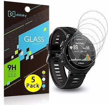 Didisky - Protector de Pantalla de Cristal Templado para Garmin Forerunner 735XT, 5 Unidades, Tacto Suave, fácil de Limpiar, fácil de Instalar, Transparente: Amazon.es: Electrónica