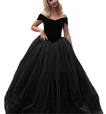 CCBubble Ball Gown Prom Dresses 2018 Off The Shoulder Velvet Prom Dress-2
