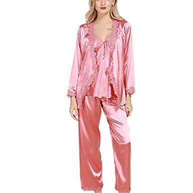 d584cb4483 Image Unavailable. Image not available for. Color  Pratnd Luxurious Women  Robe Pajama Sets ...