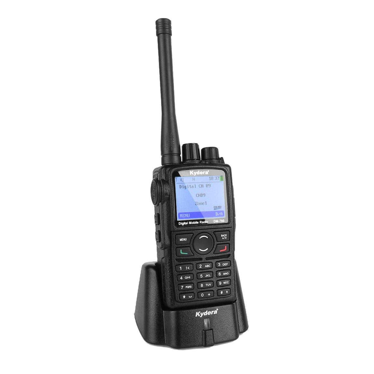 Kydera DM-760 DMR Digital Radio 400-480MHz UHF Walkie Talkie 2000mAh 5W, Compatible With Motorola
