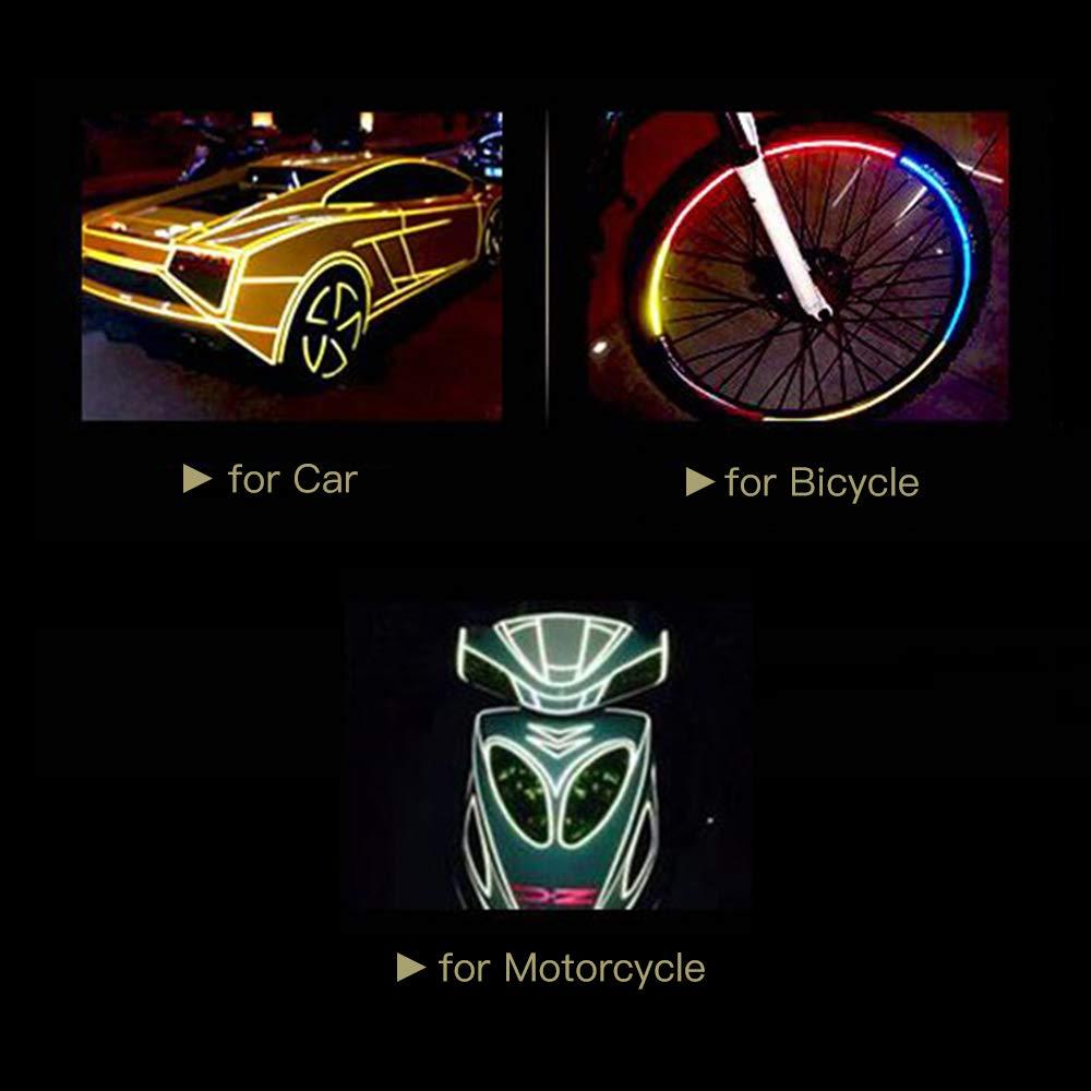 10mm Blanc 5000 KKmoon Ruban de Signalisation R/éfl/échissant de S/écurit/é Imperm/éable /à L/'Eau Feuille Sticker pour Auto Moto Moto Camion Voiture Style