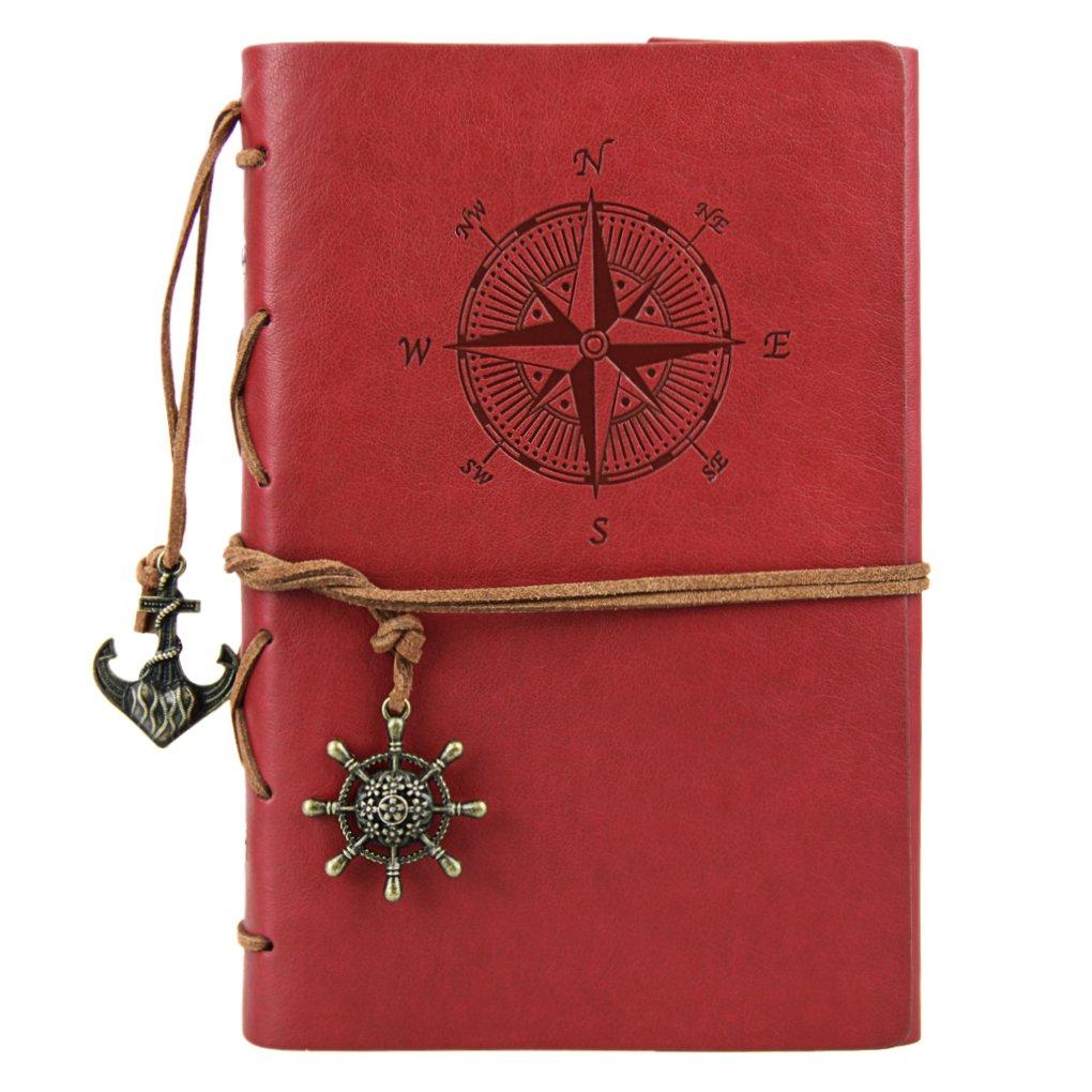 Liying Retro Skizzenblock Tagebuch Notizbuch Softcover DIN A6 Kraftpapier Blanko Geschenkbucher Reisetagebuch Schwarz