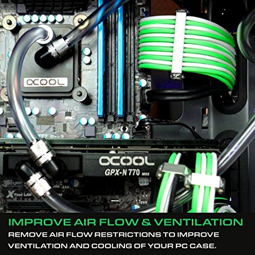CoolForce Aluminum PC Cable Comb for 16 Pin Sleeved GPU PCIE