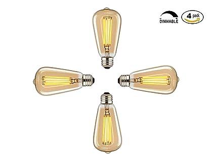 Vintage Edison Leuchtmittel, 60 W dimmbar Industrie Anhänger ...