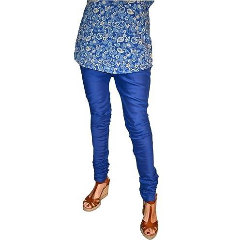 Zen *Ethic-Pantalón de la India-Cortinas de algodón Iu indigo uni talla única