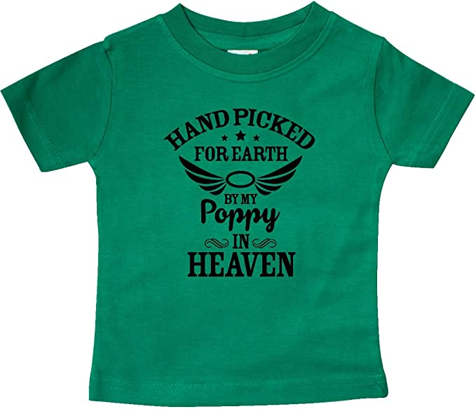 inktastic Handpicked for Earth by My Poppi in Heaven Baby T-Shirt