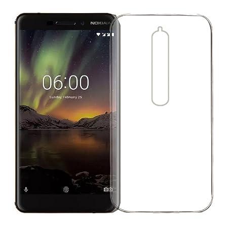 save off 4e52f cd986 Mitzvah Silicone Transparent Back Cover For Nokia 6.1 / Nokia 6 2018