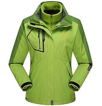 Fuwenni Women s Mountain Waterproof Ski Jacket Outdoor 3-in-1 Winter Hooded  Windproof Snowboarding 2742e07b2