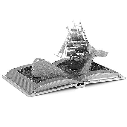 Amazon.com: Maqueta de metal en 3D de libro de Moby Dick, de ...