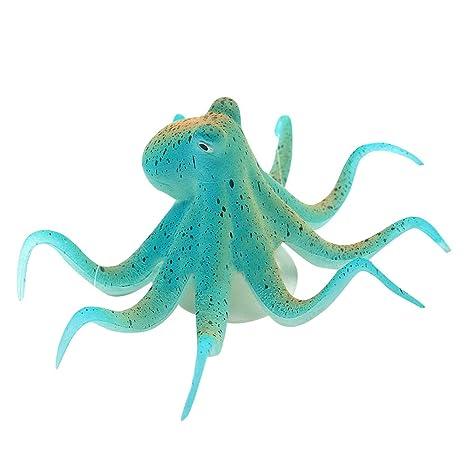 Steellwingsf - Figura Decorativa para Acuario, Diseño de Pulpo Artificial Luminoso
