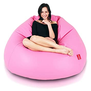 Turbo BeanBags Maxi Bean Bag Chair, Large, Pink