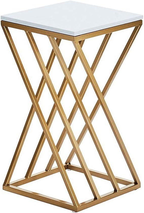 Planta de Hierro Soporte/Alta Mesita, Smooth sobre la Mesa, en Forma de X-Frame, Forma Elegante, fácil de Decorar, Diseñado for el Ministerio del Interior Moderno, Blanco: Amazon.es: Hogar