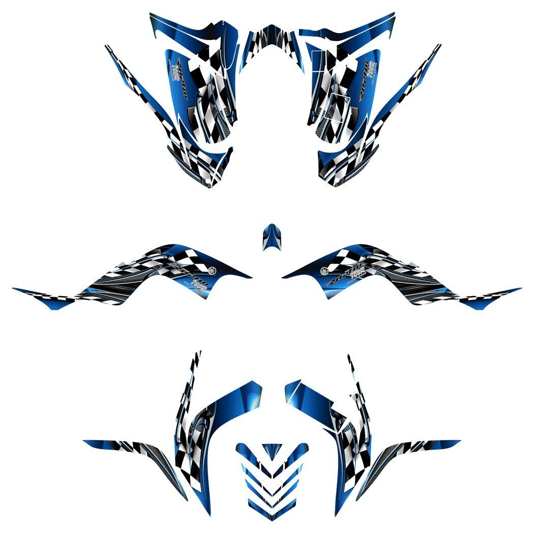 Yamaha Raptor 700R 2006-2012 Graphics Decal Kit by Allmotorgraphics NO2500 blue