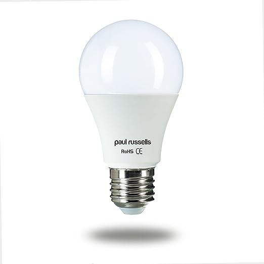 3 Pack 12 W GLS bombillas de luz LED E27 ES rosca Edison Paul Russells brillante 12 W=100 W A60 globo 270 haz lámpara 2700 K blanco cálido 100 W incandescente de repuesto: Amazon.es: Iluminación