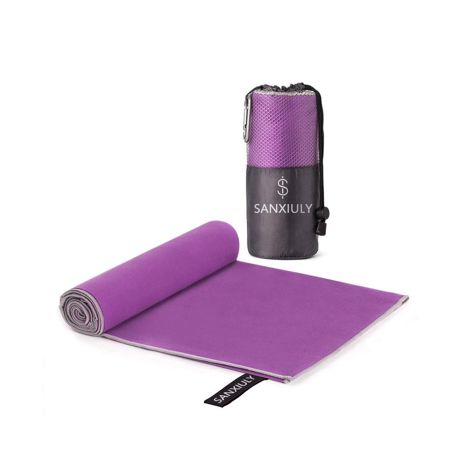 SANXIULY Microfiber Quick Drying Towel for Travel,Camp,Gym,Beach,Swim,Backpacking and More Color Purple Size 2448'' by SANXIULY