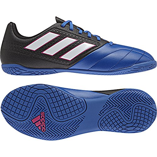 adidas ACE 17.4 IN J - Botas de fútbolpara niños, Negro - (NEGBAS/FTWBLA/AZUL), -31