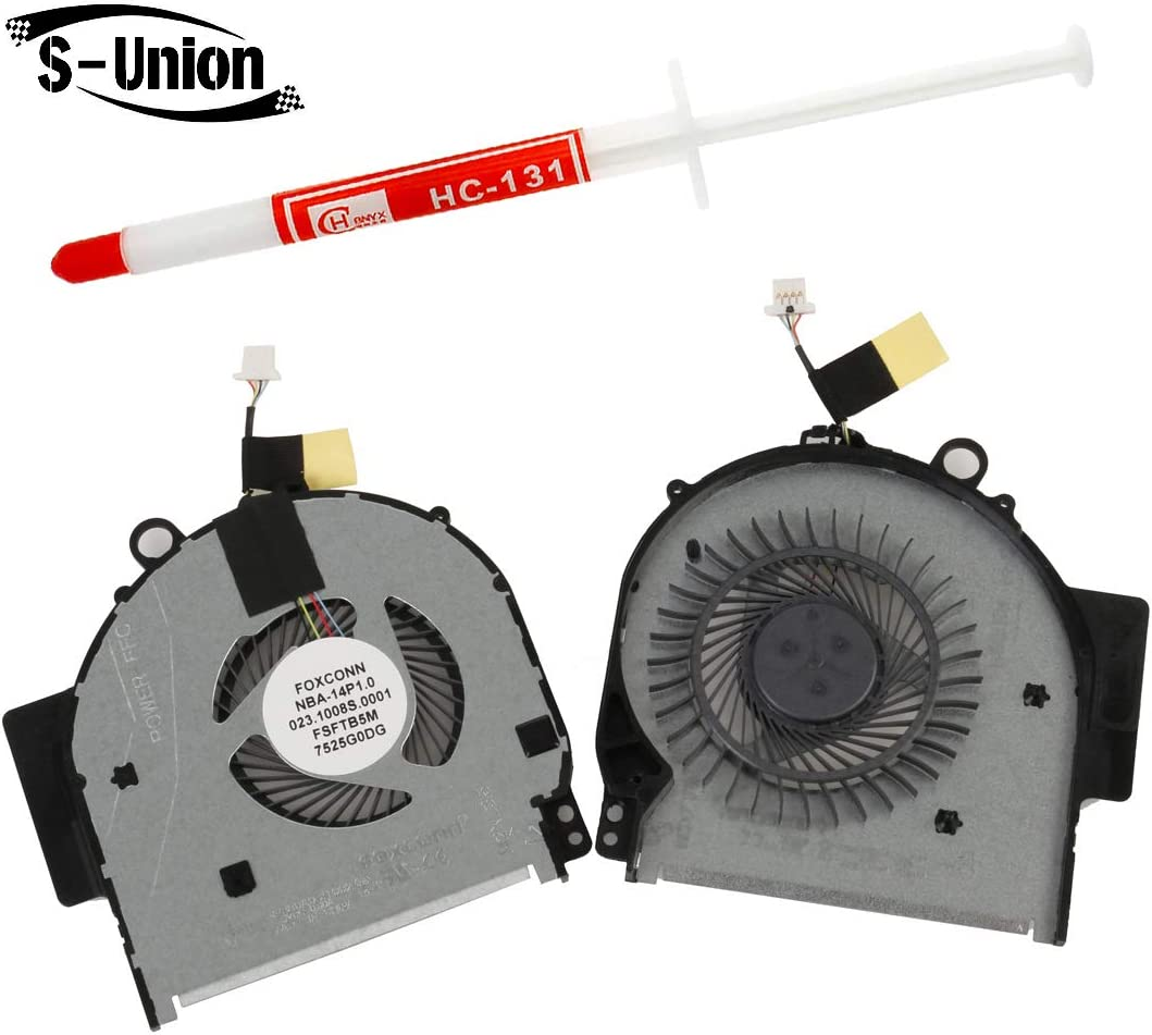 S-Union New Replacement Internal Cooling Fan for HP Pavilion X360 14-BA 14M 14M-BA011DX 14M-BA011DX 14M-BA013DX 14M-BA015DX 14M-BA114DX 14T-BA Laptop with Thermal Grease