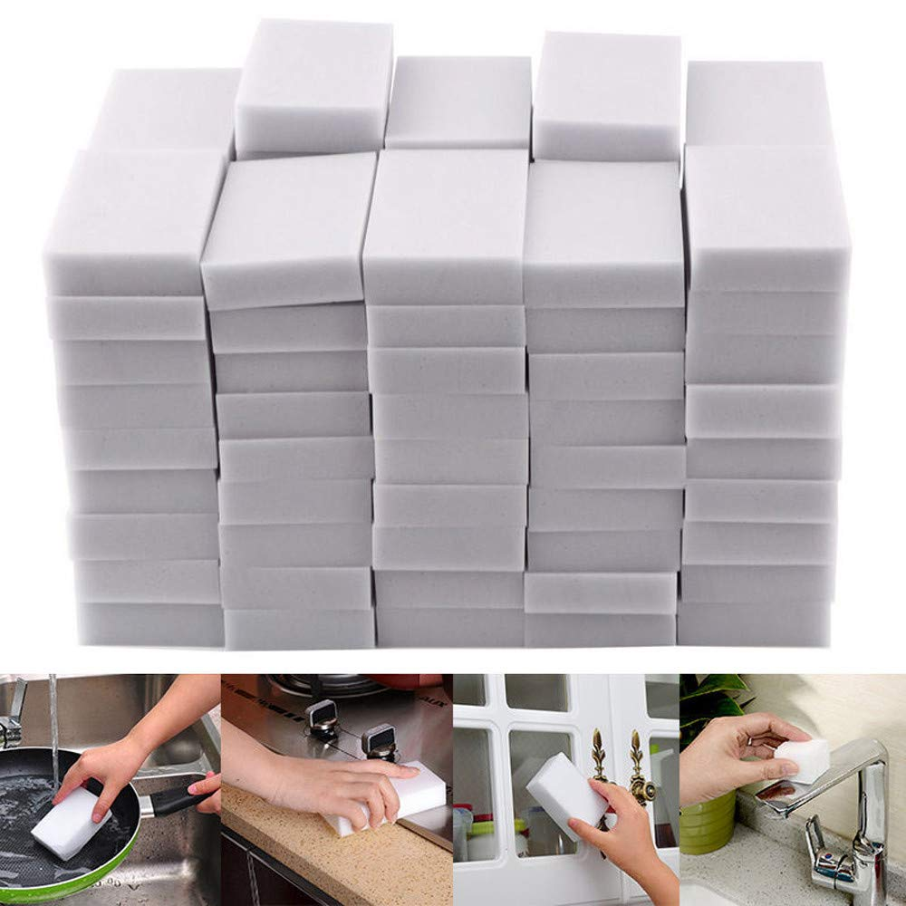 KNDDYY Magic Cleaning Sponge Magic Eraser Sponges Foam Cleaning Pad - Eraser Sponge for All Surface (40PC)
