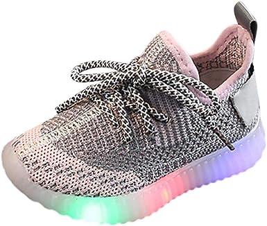 Toddler Infant Kids Baby Girls Boys Mesh LED Light Luminous Sport Shoes Sneakers