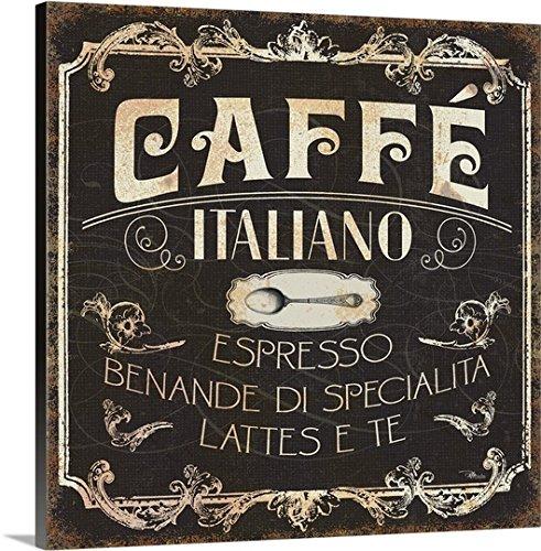 Pela Studio Premium Thick-Wrap Canvas Wall Art Print entitled Italian Cuisine II Bistro Cream