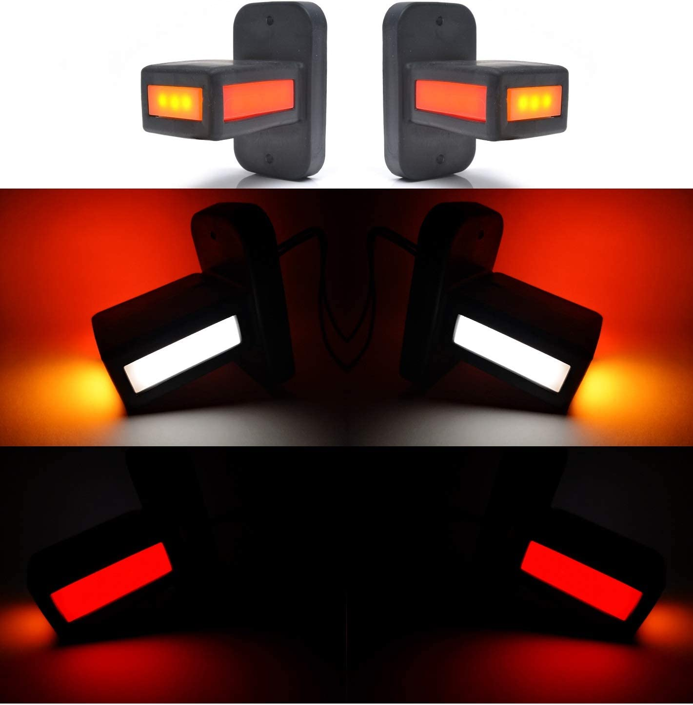 KIT PILOTOS LED NEON GALIBOS LATERALES REMOLQUE 3 COLORES 12V 24V