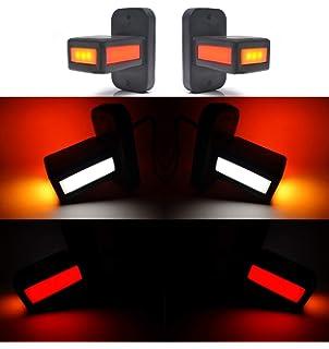 2 Piezas 24//7Auto DACA113WRY Marcador Luces Traseras para Cami/ón Trailer LEDs 24 V