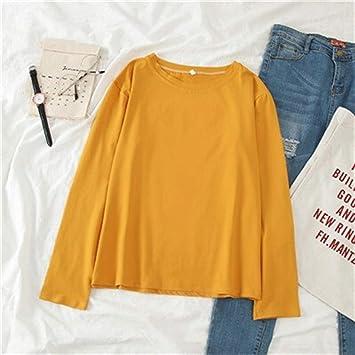 YF Primavera Otoño de gran tamaño camiseta de las mujeres ...