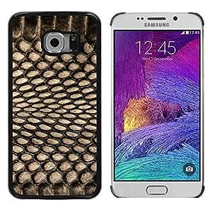 TopCaseStore / la caja del caucho duro de la cubierta de protección de la piel - Pattern Textile Black Net Spots - Samsung Galaxy S6 EDGE SM-G925