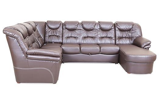 Sofa Wohnlandschaft Rom Mit Relax Und Schlaffunktion Braun