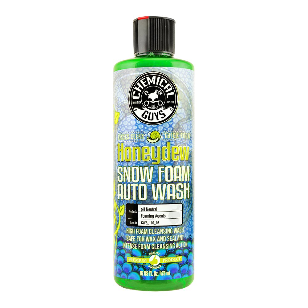 Chemical Guys CWS_110_16 Honeydew Snow Foam Car Wash Soap and Cleanser (16 oz)
