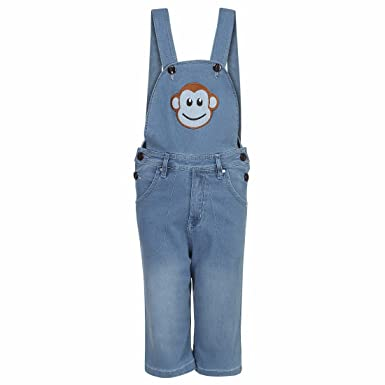 Firstclap Denim Solid dungree for Boys & Girls |Dress for Boys|Jumpsuit for Kids|Unisex Boys' Shorts & Dungarees at amazon