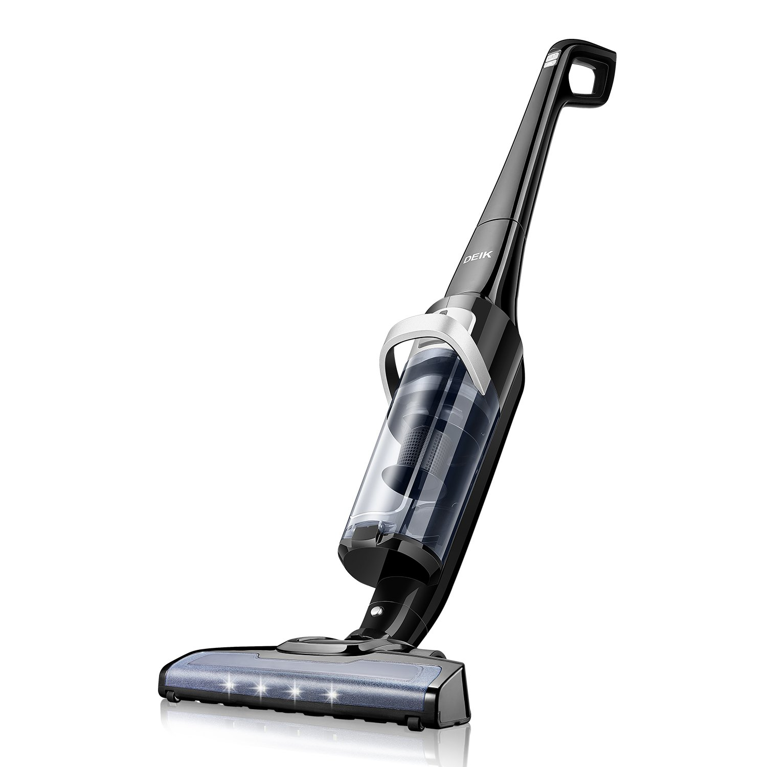 Deik Vacuum Cleaner, Cordless Vacuum Cleaner with 28.8V Li-ion Battery Powered, Lightweight Rechargeable Bagless Stick Vacuum, Cyclonic HEPA Filtration System with Wall Mount, 2018 Upgrated by Deik